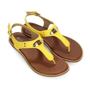 MICHAEL KORS YELLOW SANDALS